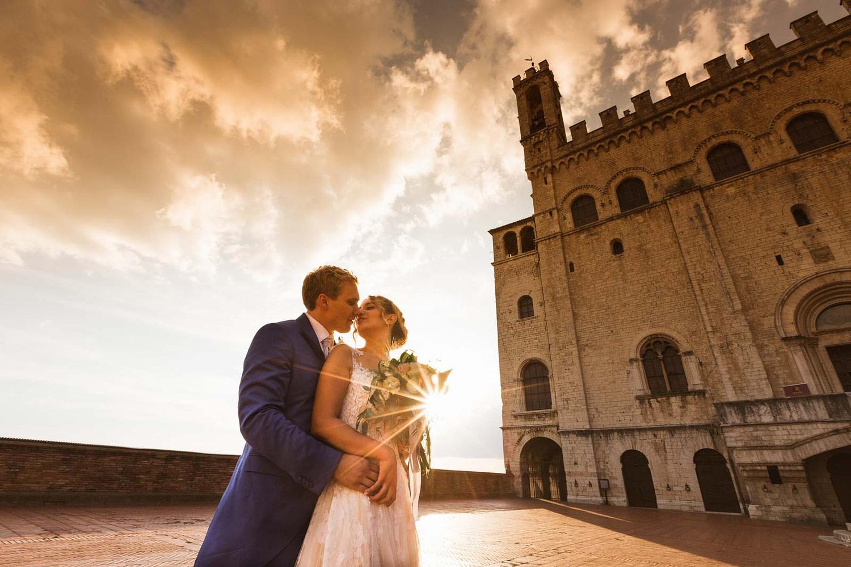 Palazzo dei Consoli - Gubbio - le foto di matrimonio di Luca e Giorgia